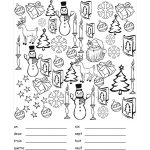 French Christmas Vocab Sheet, Includes Practice With Numbers As Well | Christmas Worksheets Printables