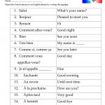 French Greetings Match Worksheet   Free Esl Printable Worksheets | Free Printable French Worksheets For Grade 4