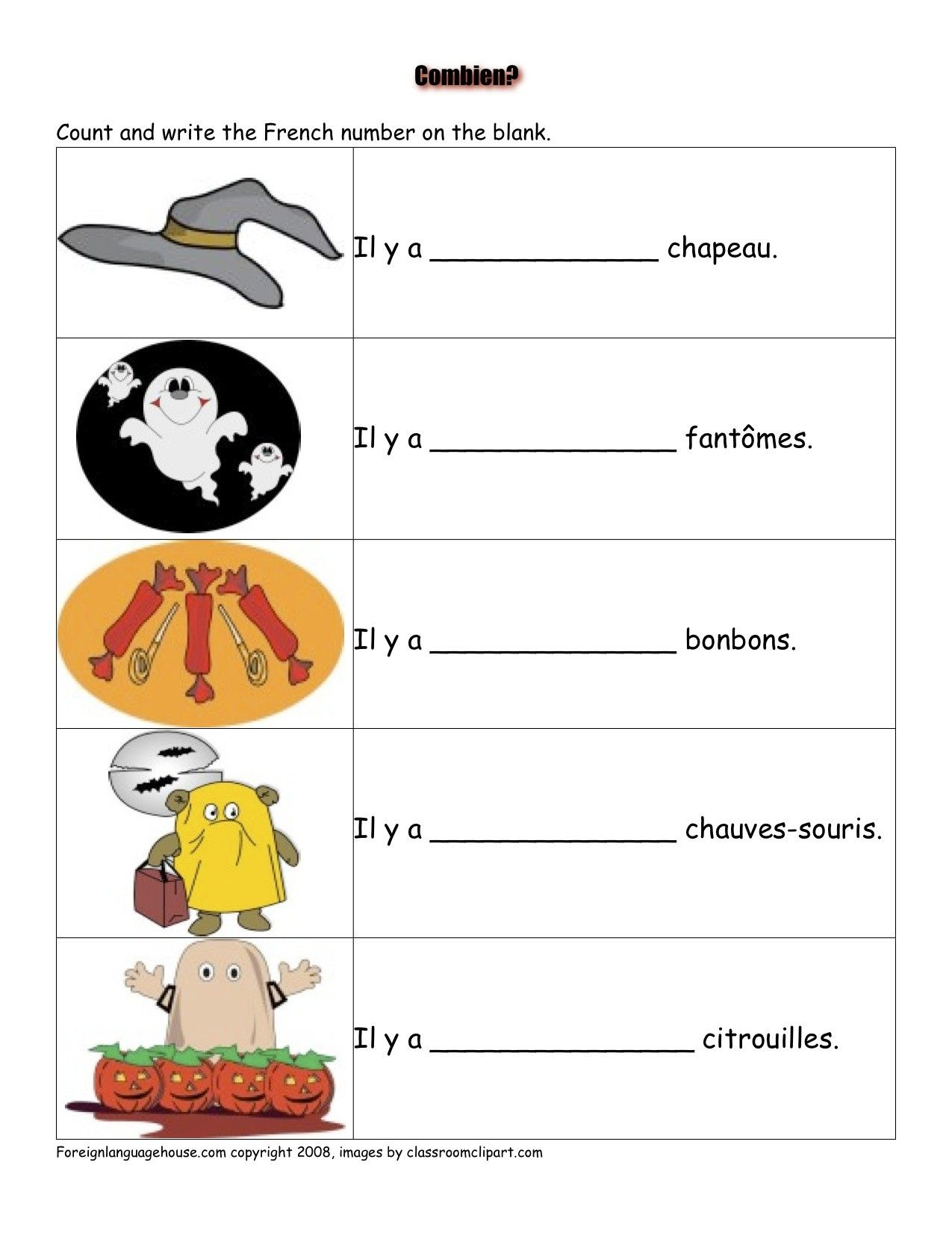 French Worksheets - Halloween | French Activities | French | Free Printable French Halloween Worksheets