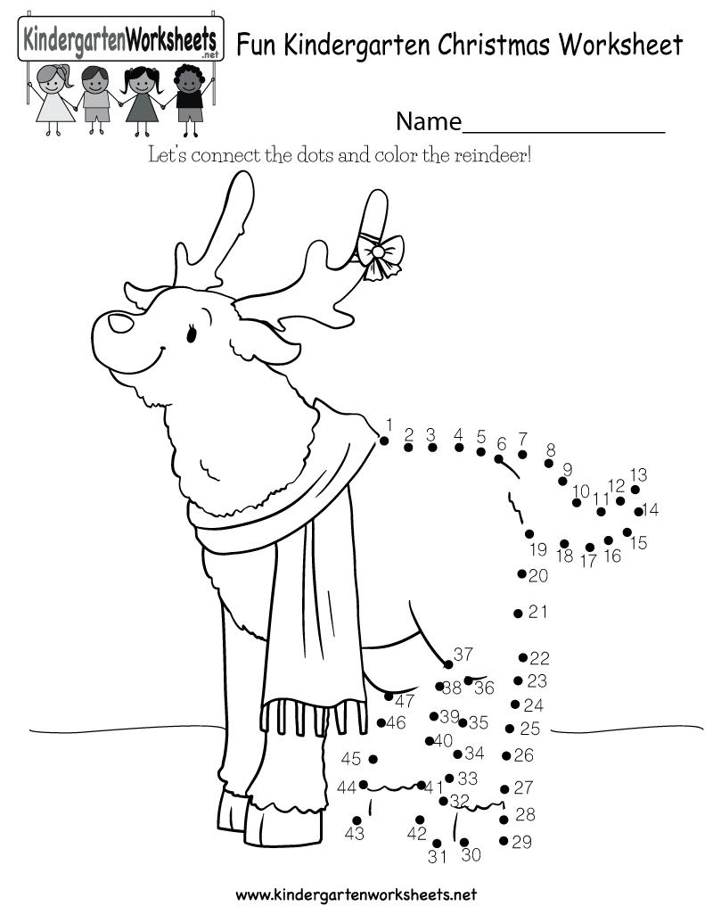 Fun Christmas Worksheet - Free Kindergarten Holiday Worksheet For Kids | Christmas Worksheets Printables For Kindergarten