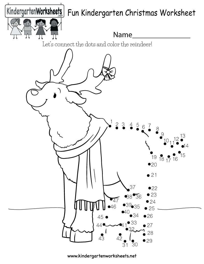 Fun Christmas Worksheet - Free Kindergarten Holiday Worksheet For Kids | Christmas Worksheets Printables