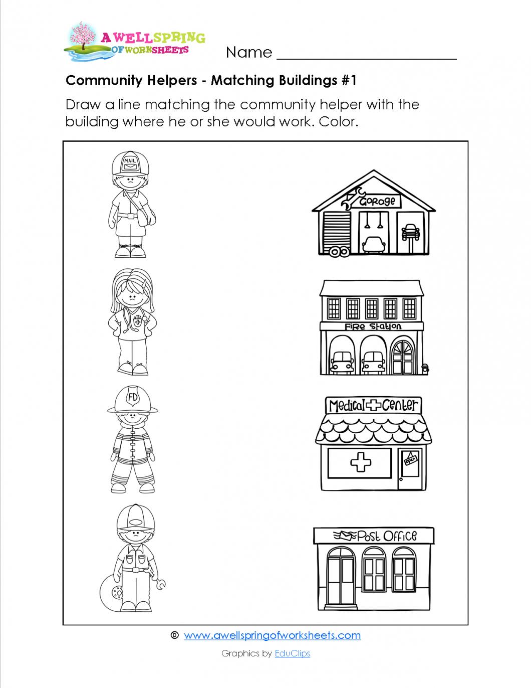 Fun Worksheets For Preschool – With Pre K Alphabet Printables Also | Free Printable Community Helpers Worksheets For Kindergarten
