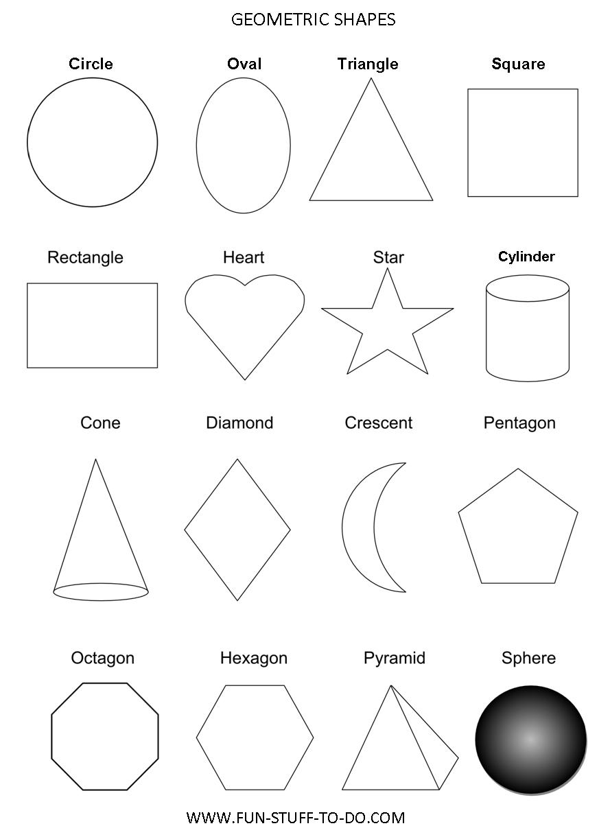 Geometric Shapes Worksheets | Free To Print | Free Printable Shapes Worksheets