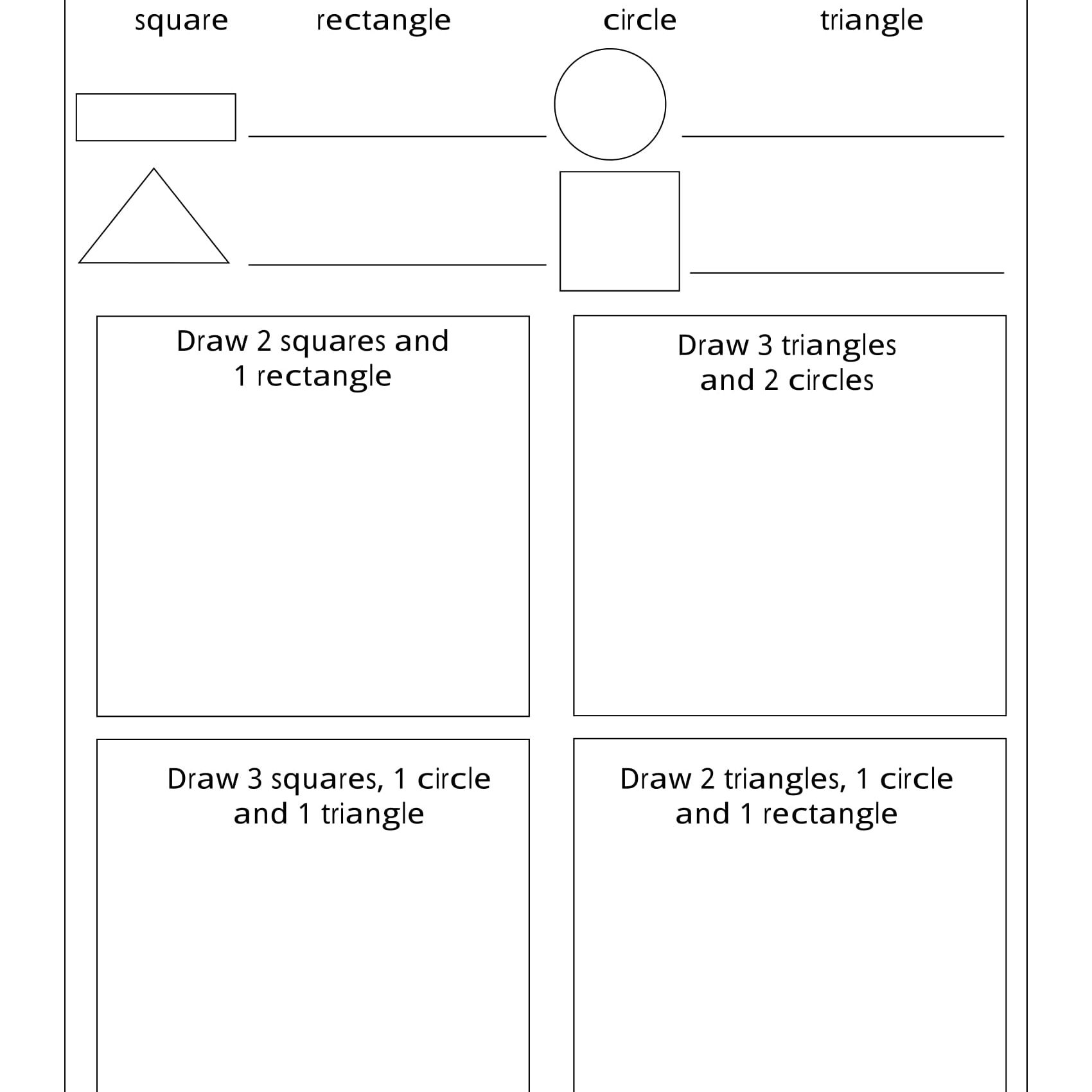 Geometry Worksheets For Students In 1St Grade | Free Printable Social Studies Worksheets For 1St Grade