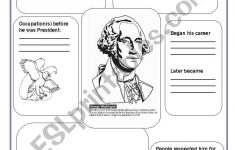 George Washington – Esl Worksheetsvetic | George Washington Printable Worksheets