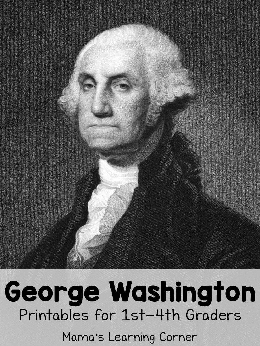 George Washington Worksheets - Mamas Learning Corner | George Washington Printable Worksheets