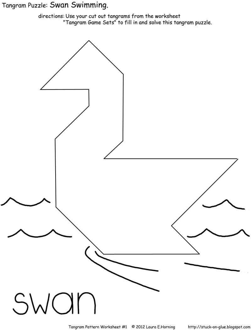 Give Your Octopus A Paintbrush (Or 8): Tangram Game | Tangram Worksheet Printable Free