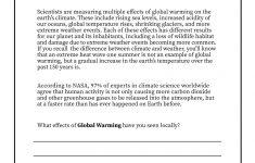 Climate Change Printable Worksheets