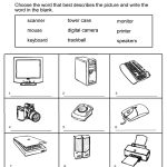 Grade 1 Worksheets For Children Learning Exercise | Summmer Vacation | Computer Worksheets Printables