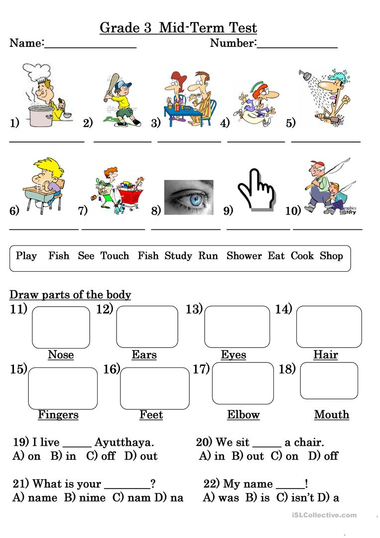 Grade 3 Test Worksheet - Free Esl Printable Worksheets Madeteachers | Printable Worksheets For Year 3
