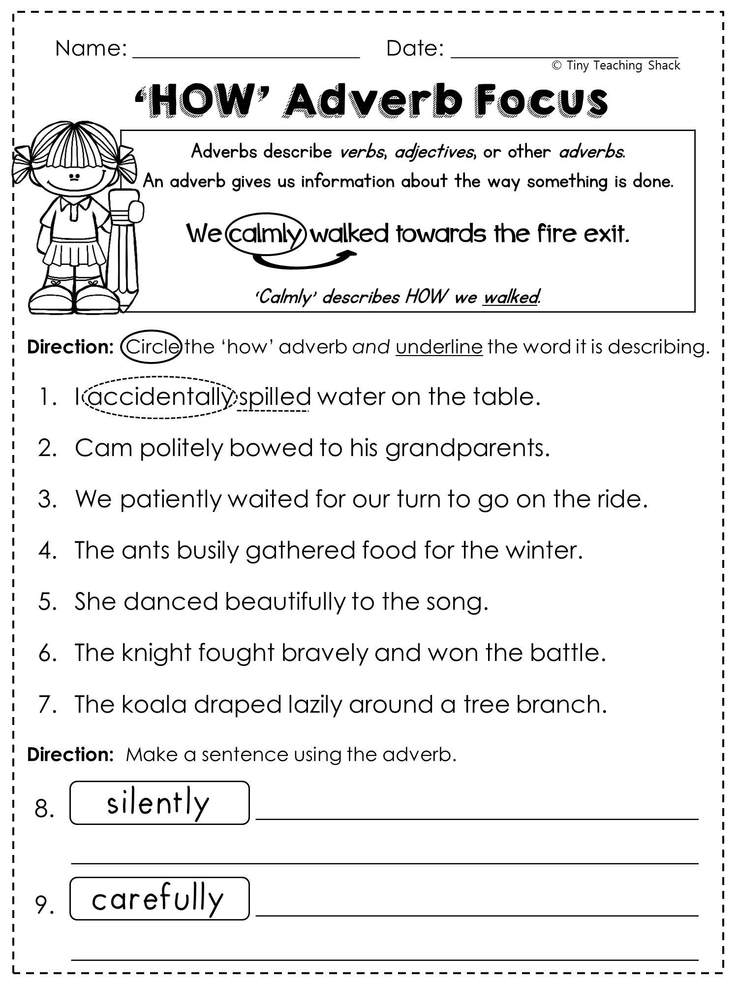 Grade 6 Printable Worksheets Beautiful Grade 6 English Worksheets | Free Printable Worksheets On Adverbs For Grade 5