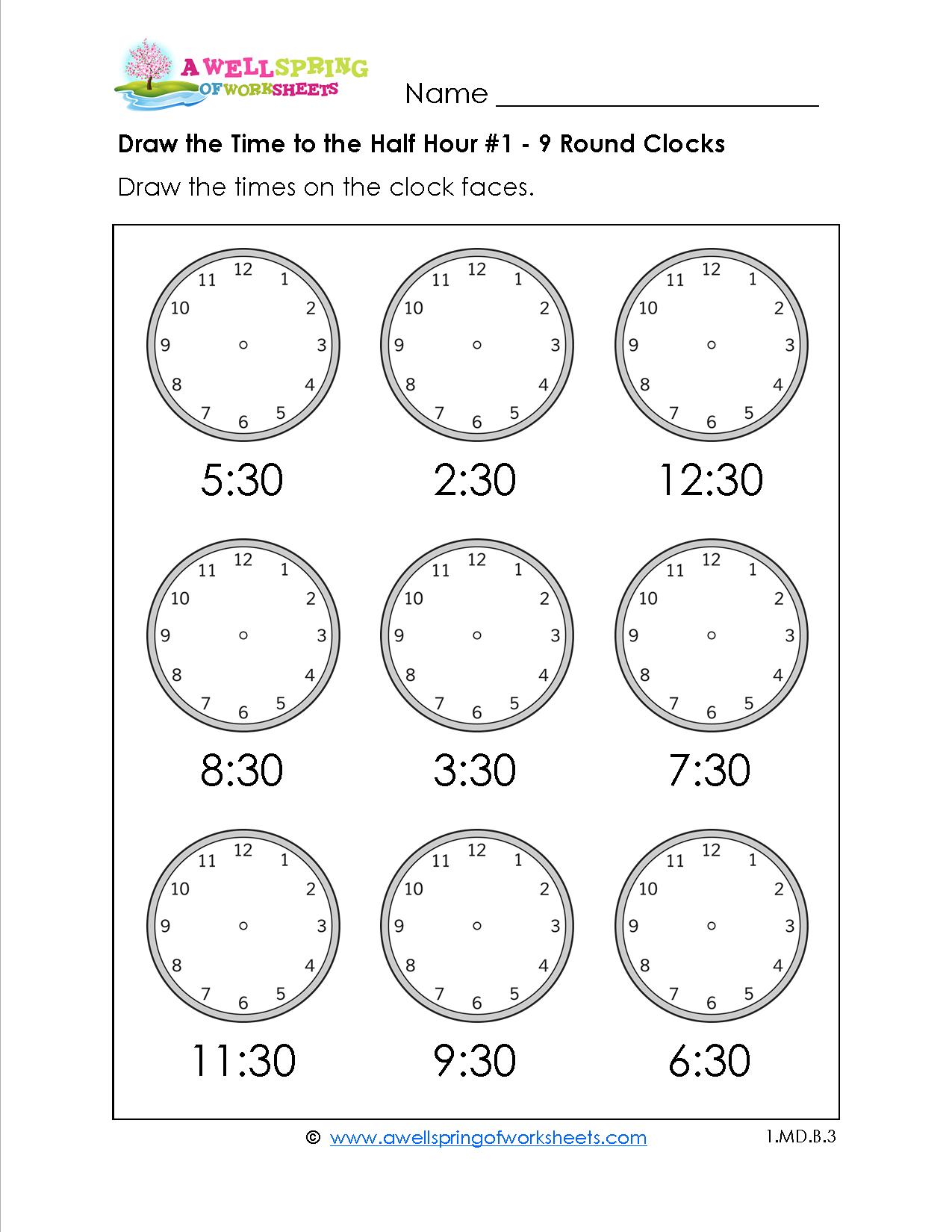 Grade Level Worksheets | Maths | 2Nd Grade Math Worksheets, First | Printable Clock Worksheets First Grade