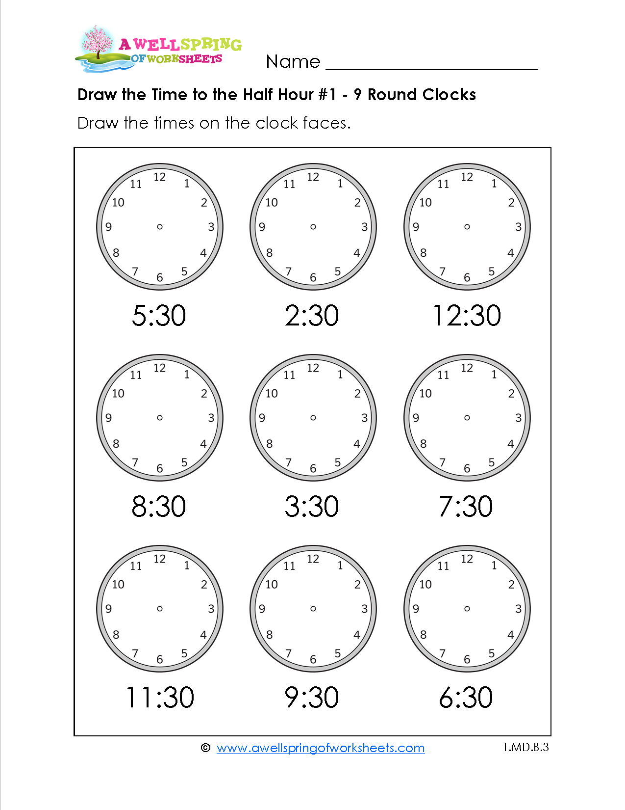 Grade Level Worksheets | Maths | 2Nd Grade Math Worksheets, First | Telling Time Printable Worksheets First Grade