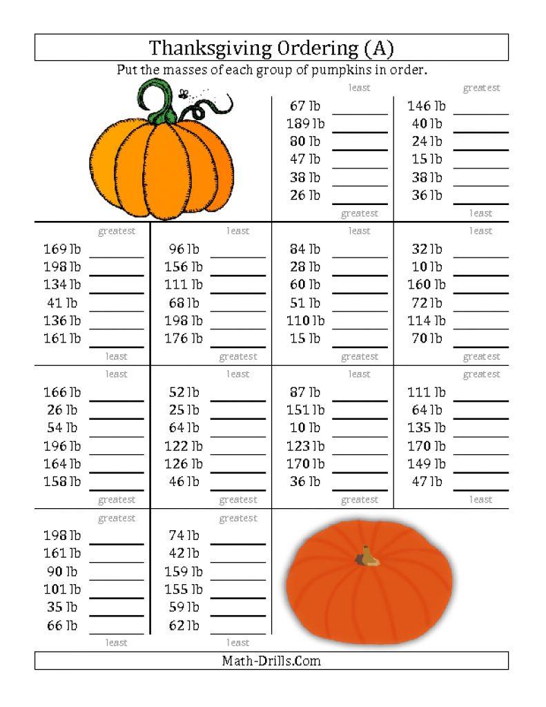 Halloween Math Worksheets Middle School Fresh Luxury Fun Fraction | Free Printable Thanksgiving Worksheets For Middle School