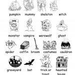 Halloween Vocabulary Printables | Halloween Arts   Free Printable | Free Printable French Halloween Worksheets