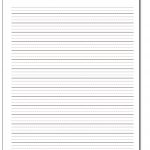 Handwriting Paper | Printable Blank Handwriting Worksheets