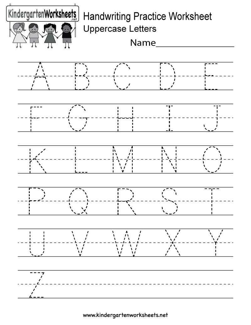 Handwriting Practice Worksheet - Free Kindergarten English Worksheet | English Worksheets Printables