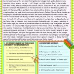 Happy Easter Reading Comprehension Worksheet   Free Esl Printable | Free Printable Easter Reading Comprehension Worksheets