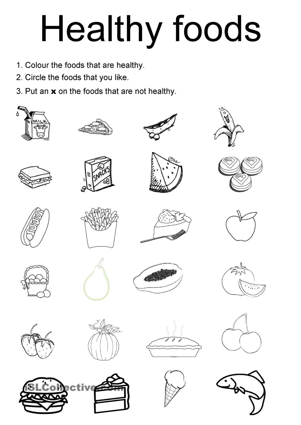 Healthy Foods | Projects To Try | Healthy Meals For Kids, Kids | Free Printable Healthy Eating Worksheets