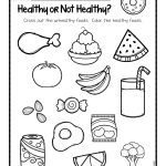 Healthy Or Not Worksheets.001 | Ot Life | Kindergarten Worksheets | Free Printable Cooking Worksheets