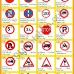 Here Is An Exercise About Traffic Signs Which Mostly Appear On The | Free Printable Traffic Signs Worksheets