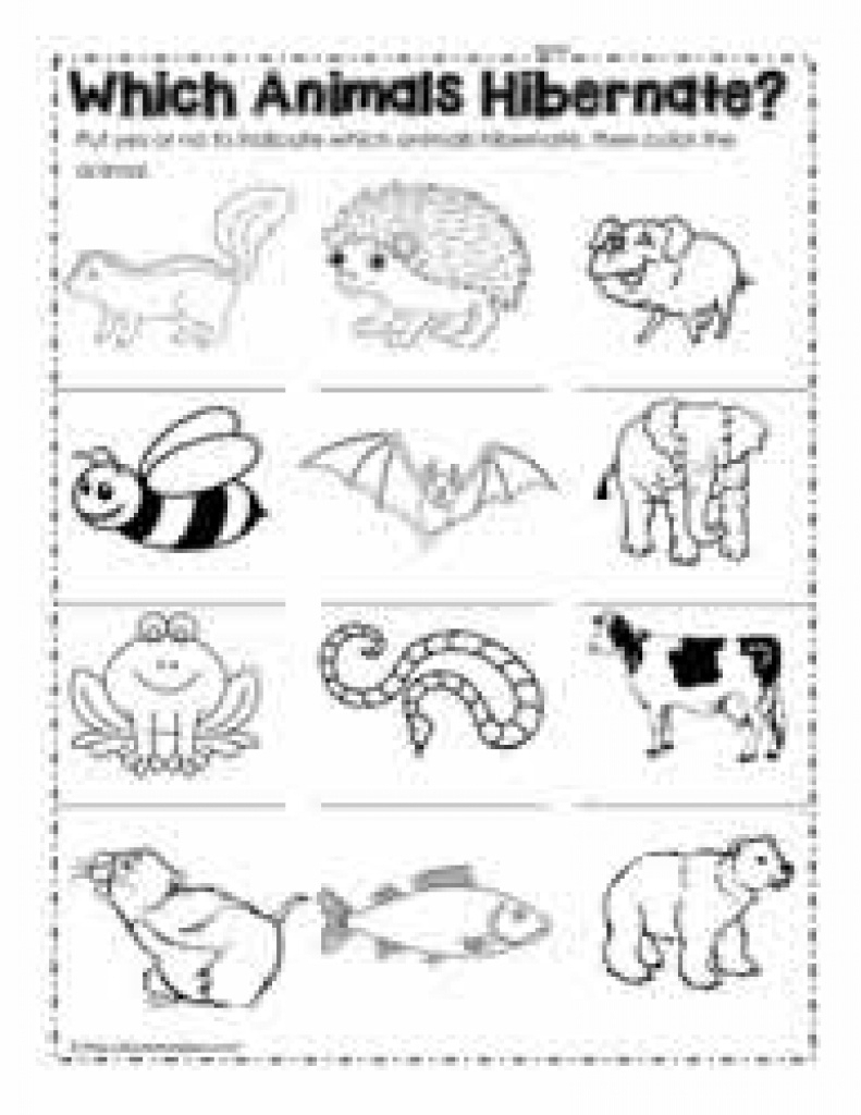 Hibernation Worksheets Regarding Free Printable Hibernation - Free | Free Printable Hibernation Worksheets
