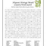 Hispanic Heritage Month Activities Worksheet | Woo! Jr. Kids Activities | Hispanic Heritage Month Printable Worksheets