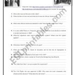 History Of Civil Rights Movement – Esl Worksheetobindidon | Civil Rights Movement Worksheets Printable