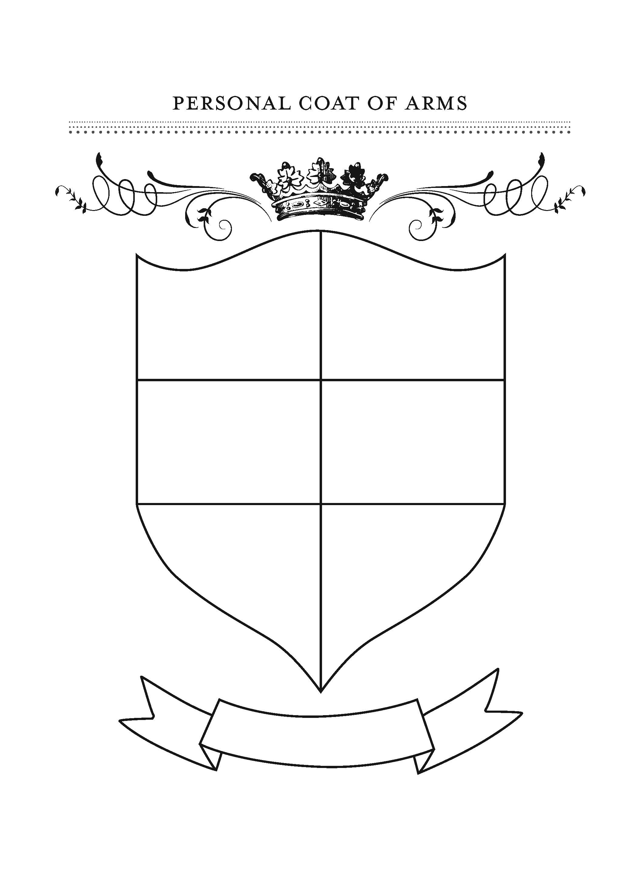 Honor Your Family With Fun Gratitude Crafts | Preschool | Printable Coat Of Arms Worksheet