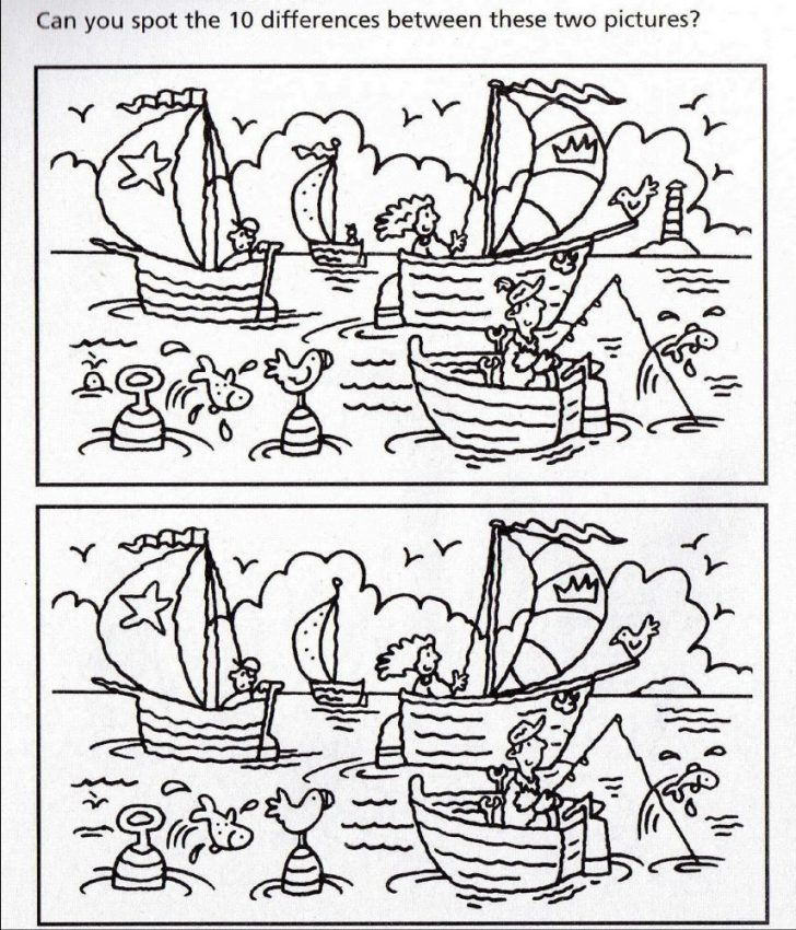 Spot The Difference Printable Worksheets For Adults