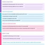 How To Write A Birth Plan (With Printable Birth Plan Worksheet   Birth Plan Worksheet Printable