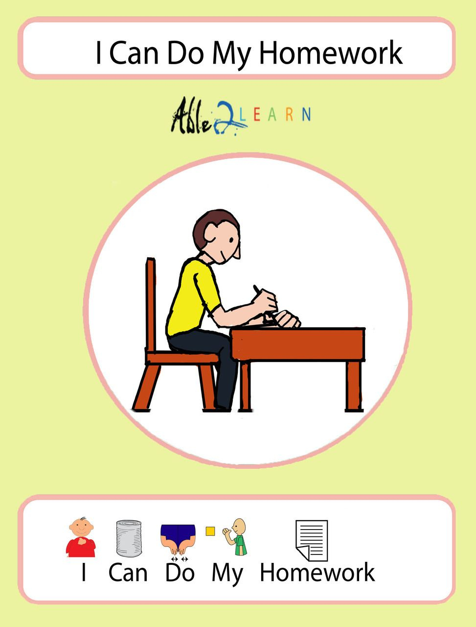 I Can Do My Homework Social Story: Pages 10 | Icons | Social Stories | Free Printable Social Stories Worksheets