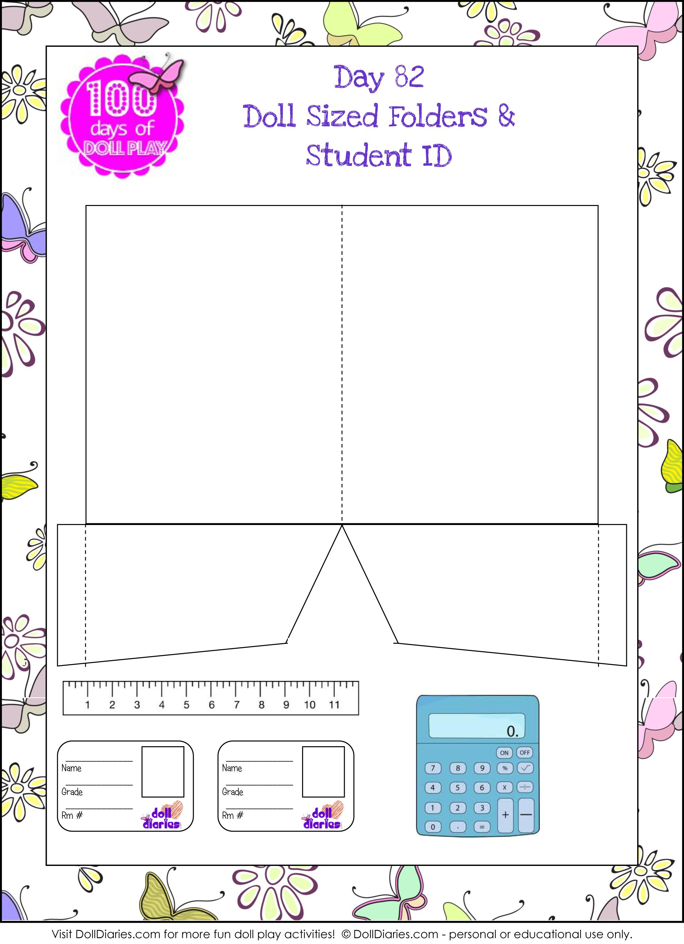 I Love These Little School Supply Printables From Doll Diaries.   18   My Froggy Stuff Printables Worksheets