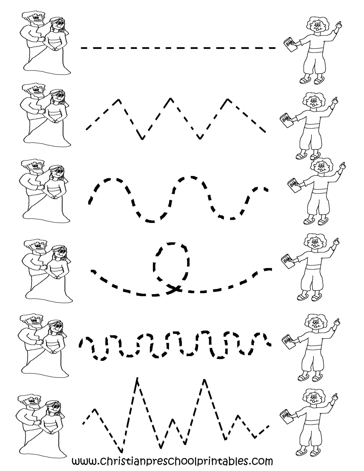 Image Detail For -Preschool Tracing Worksheets | Preschool Ideas | Printable Tracing Worksheets
