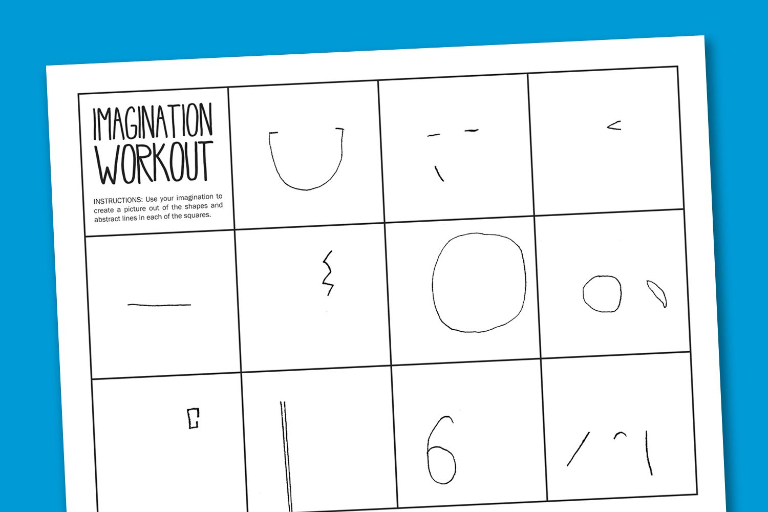 Imagination Workout Free Printable Art Worksheet - Good For Creative | Printable Art Worksheets