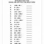 Integers Rules, Number Line, Notes And Practice Problems Worksheets | Free Printable Integer Worksheets