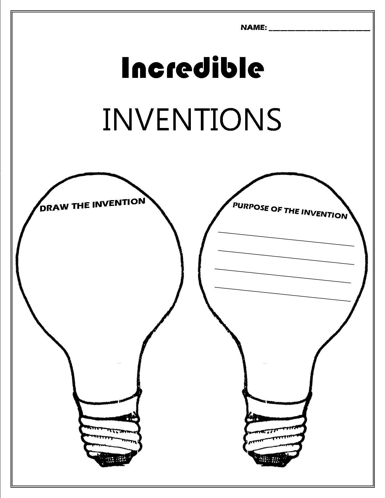 Inventor Convention Worksheet | Printable Worksheets | Future | Inventions Printable Worksheets