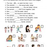 Irregular Past Tense Verbs Worksheet – All Esl | Free Printable Verb Worksheets For Kindergarten
