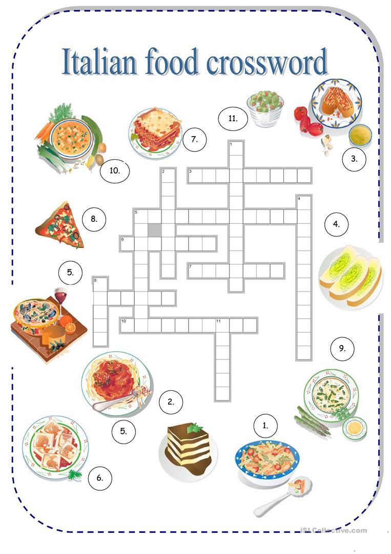 Italian Food Worksheet - Free Esl Printable Worksheets Madeteachers | Free Printable Cooking Worksheets