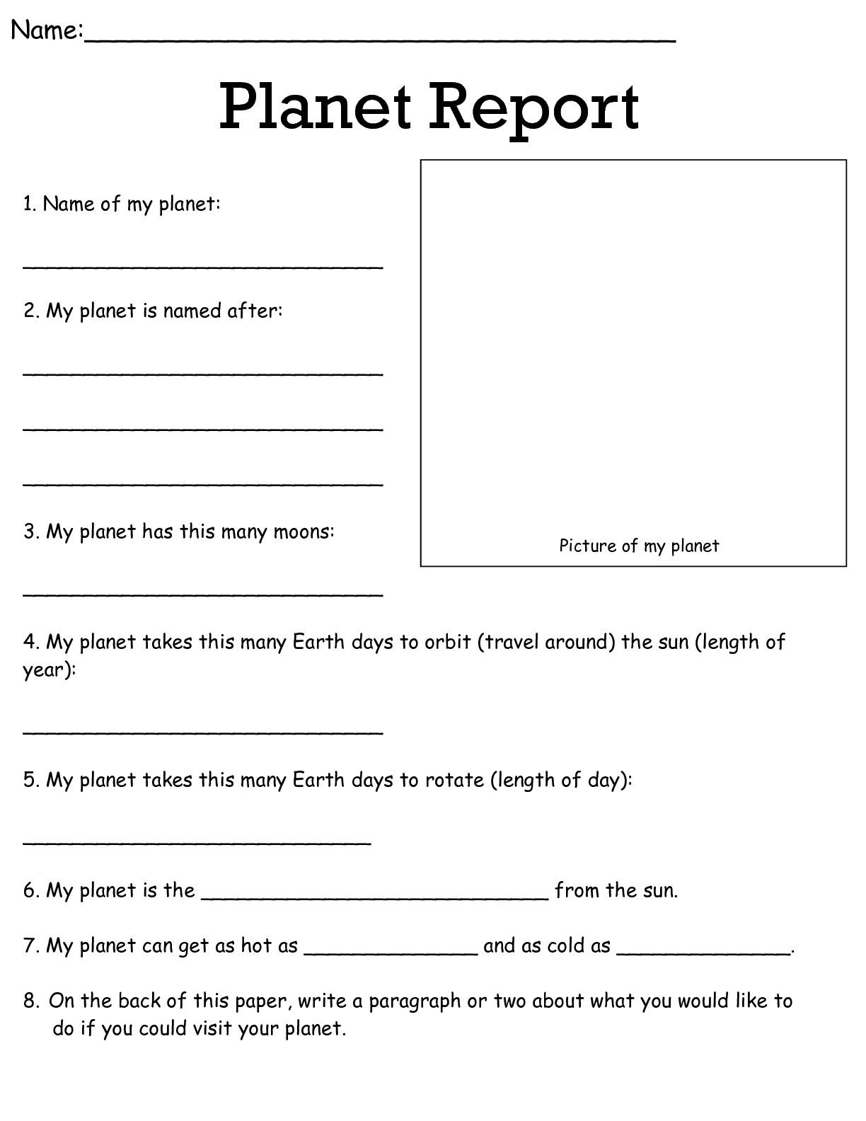 Job Worksheets 5Th &6Th | Science Worksheets Science Worksheets | Grade 8 Science Worksheets Printable