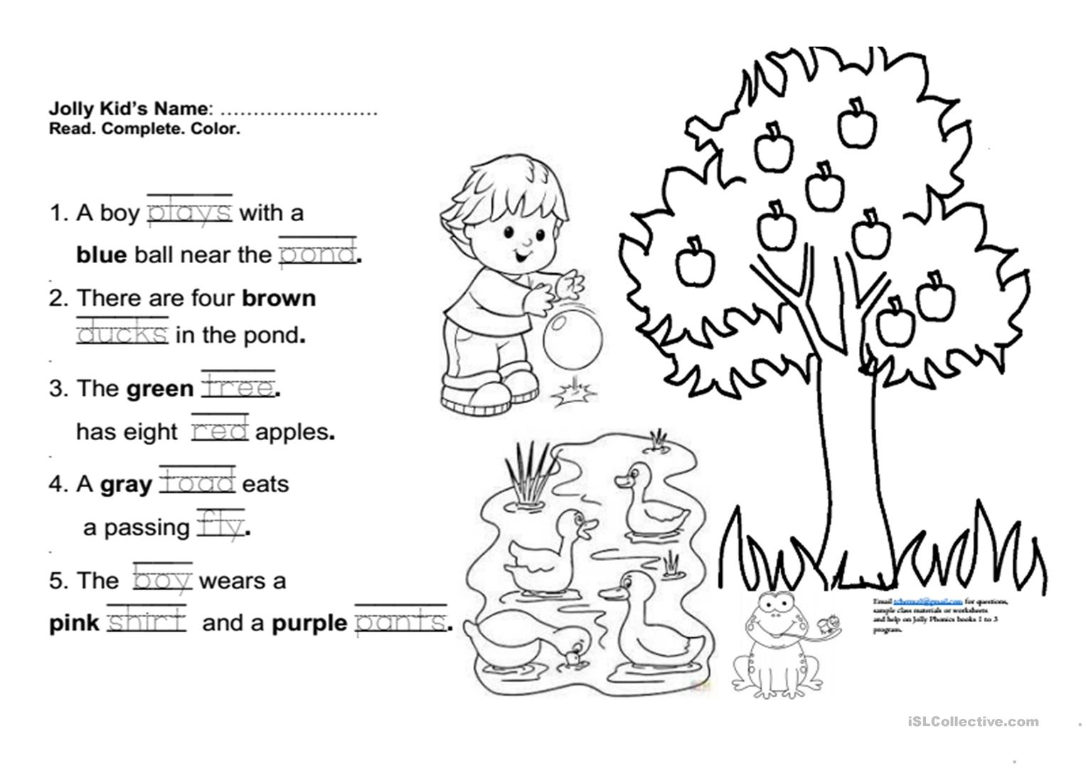 Jolly Phonics Book 3 Fun Final Test Worksheet - Free Esl Printable | Jolly Phonics Worksheets Free Printable