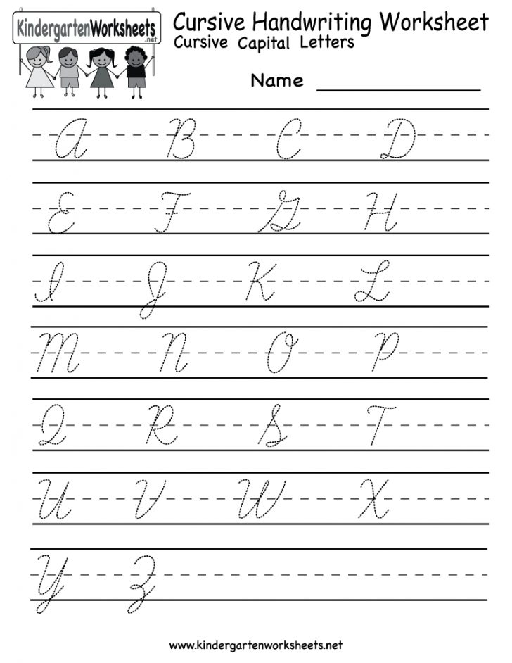 Cursive Writing Words Worksheets Printable