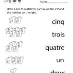 Kindergarten French Numbers Worksheet Printable | Français Pour Les | Free Printable French Worksheets For Grade 1