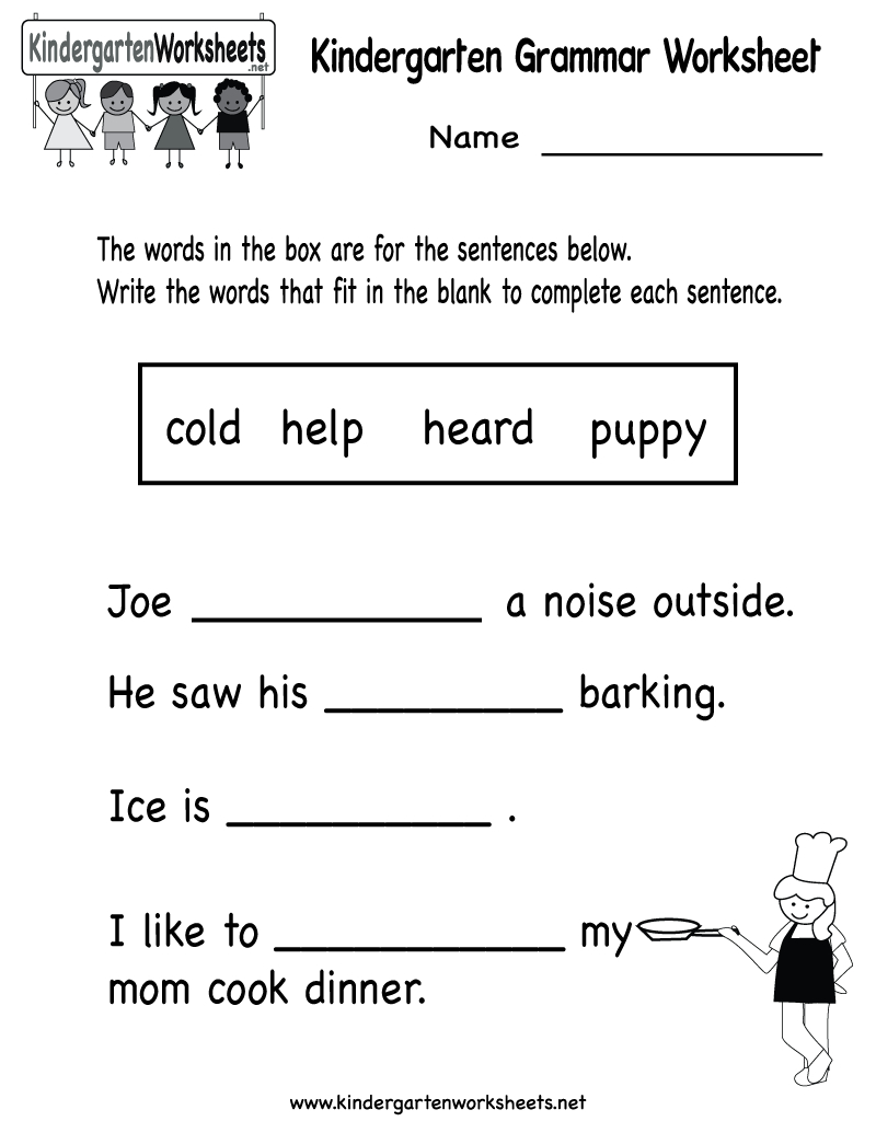 Kindergarten Grammar Worksheet Printable | Worksheets (Legacy | Printable Grammar Worksheets