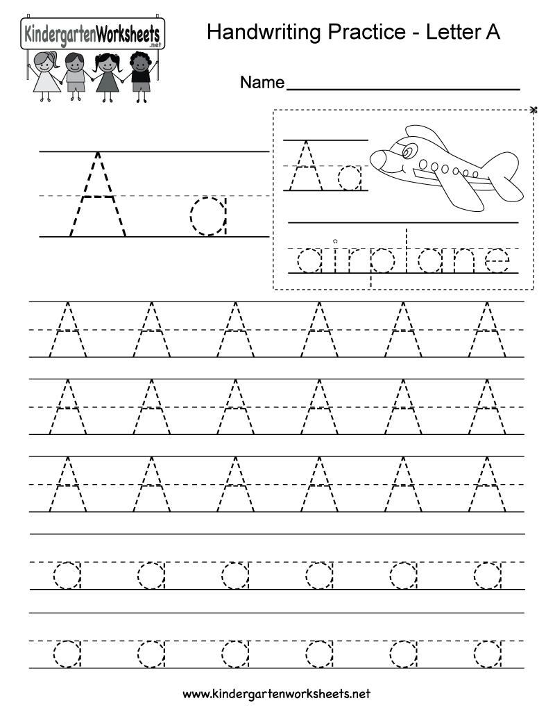 Kindergarten Handwriting Worksheet - Koran.sticken.co | Free Printable Handwriting Worksheets For Preschool