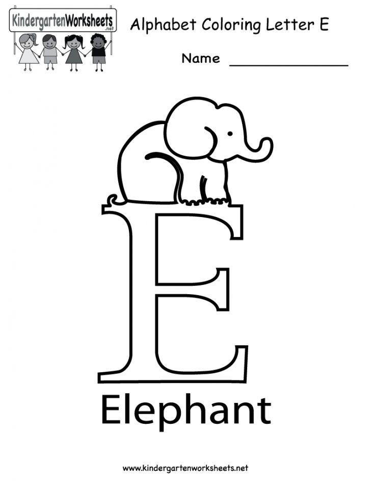 Printable Letter E Worksheets For Preschool