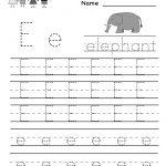 Kindergarten Letter E Writing Practice Worksheet Printable | Printable Letter E Worksheets For Preschool