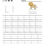 Kindergarten Letter L Writing Practice Worksheet Printable | Writing | Free Printable Letter L Tracing Worksheets