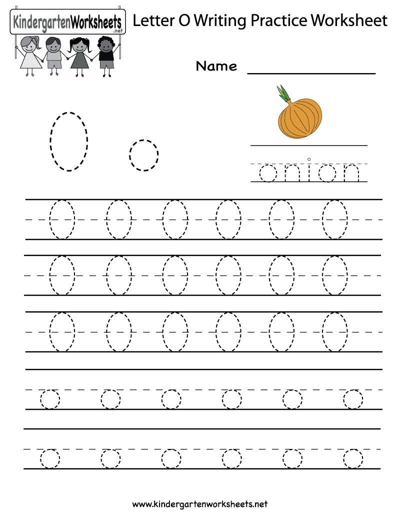 Kindergarten Letter O Writing Practice Worksheet Printable | Letter O Printable Worksheets