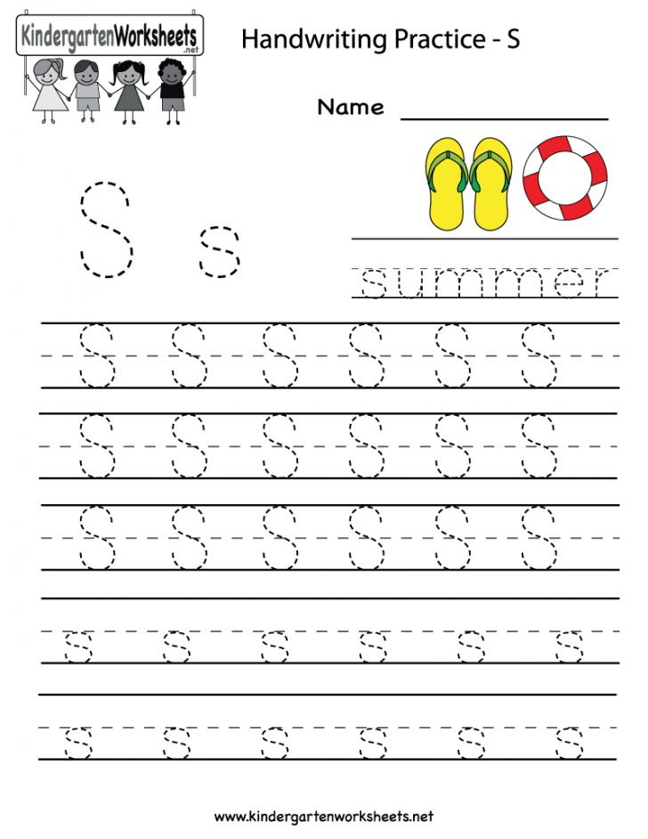 Kindergarten Worksheets Printable Writing